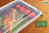 [10 pack] 1 Compartment BPA Free Meal Prep Containers. Reusable Plastic Food Storage Containers with Lids. Stackable Microwavable Freezer & Dishwasher Safe Lunch Box Container Set + EBook [38 oz]