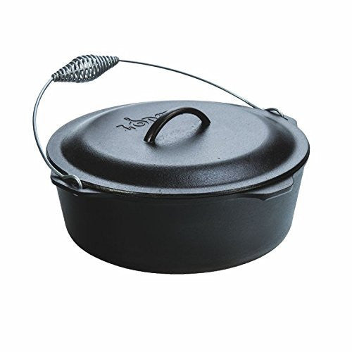Lodge L12DO3 Cast Iron Dutch Oven with Iron Cover, Pre-Seasoned, 9-Quart