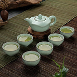 Eternal Chinese Celadon Gongfu Tea Set,Lce Crack Teacup Ceramic Kung Fu Tea Set (Celadon Exclusive)