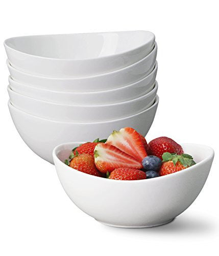 Sweese Porcelain Bowls, 18-Ounce (Set of 6)