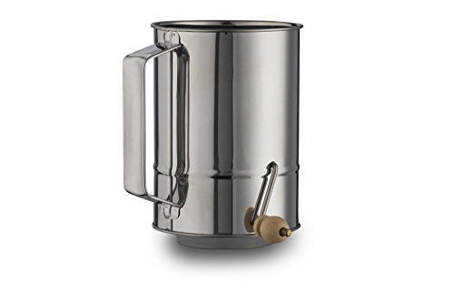 Kitchen Winners 5 Cup Crank Stainless Steel Flour Sifter