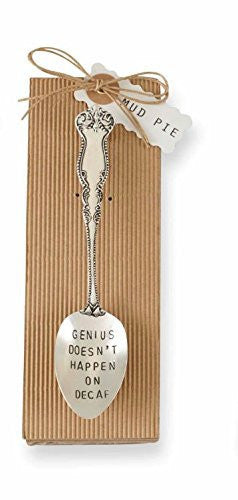 Mud Pie Genius Coffee Spoon, Silver