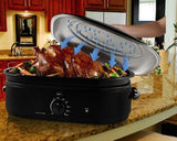 Oster CKSTRS18-BSB 18-Quart Roaster Oven with Self-Basting Lid, Black Finish