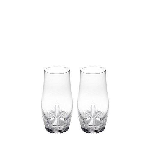 Lalique 100 Points Longdrink Tumbler Glasses by James Suckling, Pair