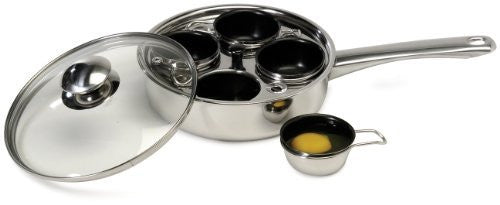 Excelsteel 18/10 Stainless 4 Non Stick Egg Poacher