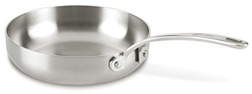 Lagostina Q55502 Axia Tri-Ply Stainless Steel Dishwasher Safe Skillet / Fry Pan Cookware, 8-Inch, Silver