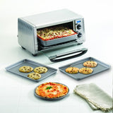 Farberware Nonstick Bakeware 4-Piece Toaster Oven Set, Gray