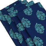 Indian Home Decor Printed Cotton Table Linens Napkins Set Of 4 20x20 Inches 200TC by ShalinIndia