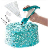 Lesirit Party Cake Decorating Pen Tool Kit (Blue)
