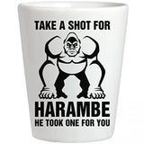 Harambe Take A Shot Glass: Ceramic Shotglass