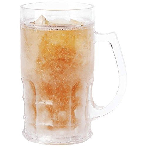 Lily's Home Large Beer Mug with Freezing Gel. 22 Oz. (1)