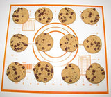 "Silicone Non-Stick Baking Mat With Measurements Baking Sheet Liner 10 ¼""x11 ¼"" Cookware Bakeware Make Cookies With Fast-Cooling Kitchenware Complimentary Downloadable E-Book of 20 Cookie Recipes"