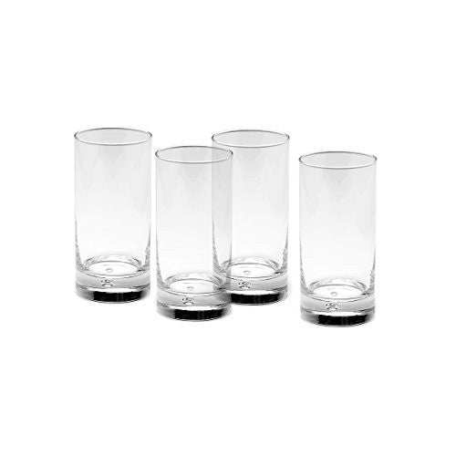 Gourmet Basics by Mikasa Disco Highball Glass, 17.5-Ounce, Clear, Set of 4