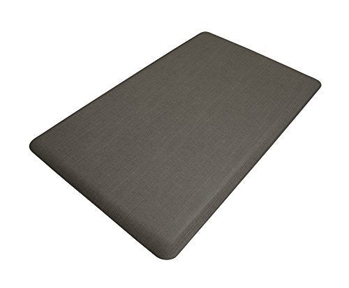 NewLife by GelPro Designer Comfort Mat, 18 by 30-Inch, Grasscloth Charcoal