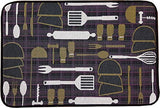 "Memory Foam Kitchen Mat - Tapestry Designs - Anti-Fatigue Non-Slip Floor Mat 18"" x 28"" Kitchen Rug (Utensils)"