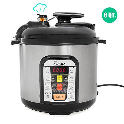 Ensue 8-in-1 Multi-Functional Pressure Cooker, 6Qt