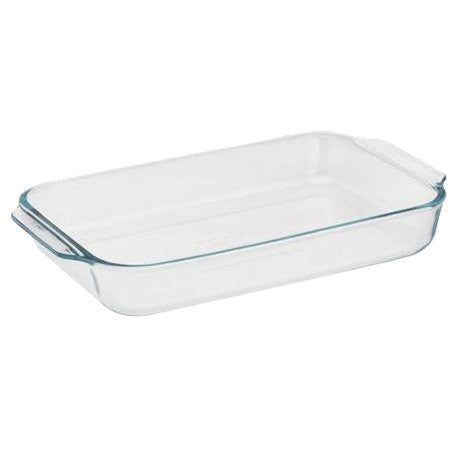 Pyrex Basics 2 Quart Glass Oblong Baking Dish, Clear 11.1 in. x 7.1 in. x 1.7 in.