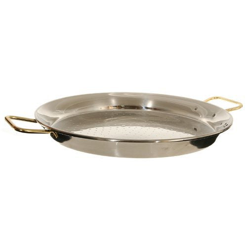 Garcima 18-Inch Stainless Steel Paella Pan, 46cm