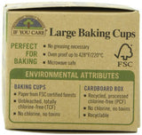 If You Care Unbleached Large Baking Cups, 60-Count Boxes (Pack of 24)