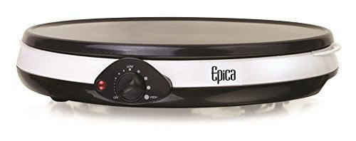 "Epica 12"" Nonstick Electric Griddle & Crepe Maker, Also Great for Pancakes, Flatbreads, Burgers, Bacon & More"