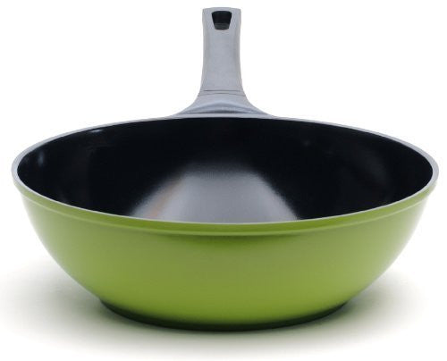 "Ozeri 14"" Earth Wok with Smooth Ceramic Non-Stick Coating, Green"