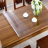 "OstepDecor 42"" Wide Waterproof PVC Protector for Table/Desk Table Pads Table Covers With Multi Size Available, Clear 42 x 60 Inches (107 x 152.4cm)"