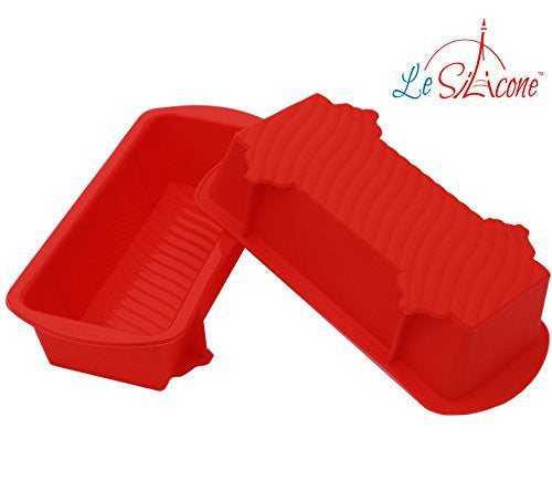 Le Silicone, Set of 2 Nonstick Small Petite Silicone Loaf Pans