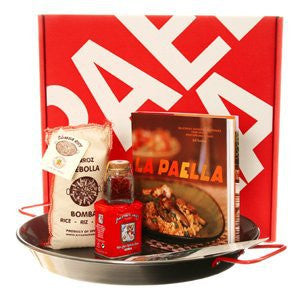 La Paella Kit with 14-Inch Carbon Steel Pan in Gift Box