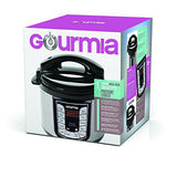 Gourmia GPC400 Smart Pot Electric Digital Multifunction Pressure Cooker with 13 Programmable Cooking Modes, 4 quart Stainless Steel with Steam Rack, 800W, Silver Free Recipe Book Included