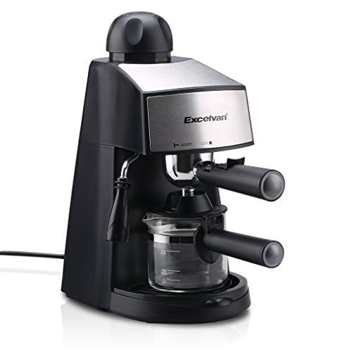 Excelvan CM6811 Steam Espresso and Cappuccino Coffeemaker (4-Cup, 800W 3.5bar)