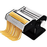 Ovente Vintage Stainless Steel Pasta Maker, 150mm, Matte Black  (PA515B)