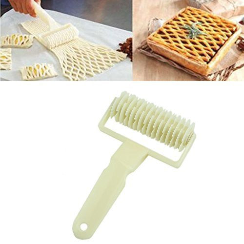 HeroNeo® Dough Bread Cookies Pie Cake Lattice Pastry Cutter Roller Kitchen Tool Craft New