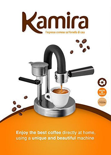 KAMIRA Moka Express 1/2 Cups Stovetop Espresso Maker, MADE IN ITALY!