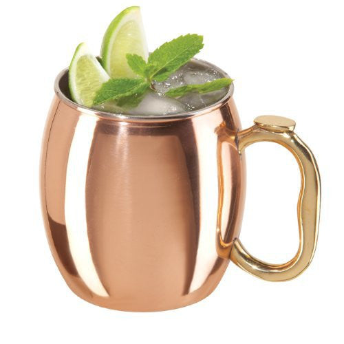 Oggi Moscow Mule Copper Plated Mug with EZ-Grip Handle, 20-Ounce