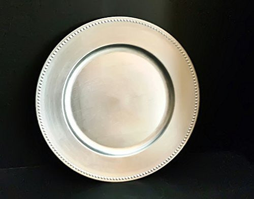 Spring Rose(TM) Silver Charger Plates (Set of 10).