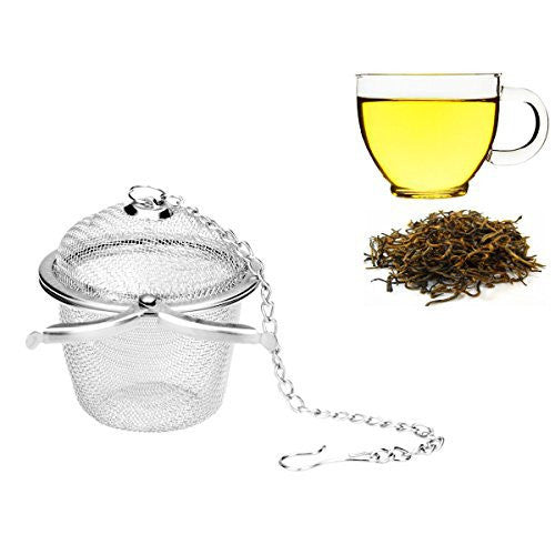 Ilyever Stainless Steel Mesh Tea Bag Strainer filter Infuser for Loose Leaf Grain Tea Cups, Mugs, and Teapots