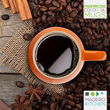 Primrose Colorful Mugs by Madero Kitchen - Set of 6 Ceramic Coffee Mugs Small Mouth 14oz - 100% Secure Packaging - Keep Liquid Hot for Longer