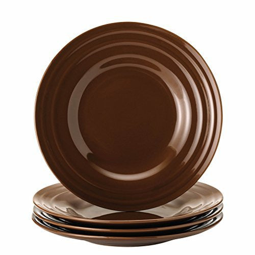Rachael Ray Dinnerware Double Ridge 4-Piece Salad Plate Set