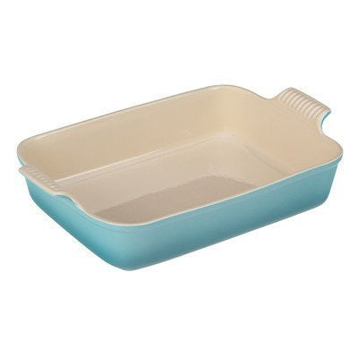 Le Creuset Heritage Stoneware 12-by-9-Inch Rectangular Dish, White