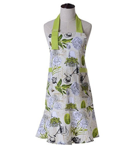 Housewife Vintage Bib Anthropologie Grilling Chef Girl Postoral Style Kitchen Cooking Aprons for Women, Perfect for Gift