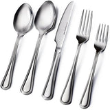 Sagler 20-Piece Flatware Set, 18/10 Stainless Steel silverware sets Set for 4 flatware sets