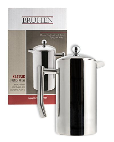 Large Stainless Steel French Press Coffee Maker - Double Wall Tea Or Coffee Press - 32 Oz (1 Liter) - With BONUS EXTRA Filter