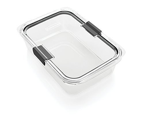 Rubbermaid Brilliance Food Storage Container, BPA-free Plastic, Large, 9.6 Cup, Clear
