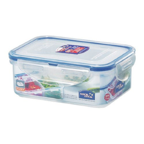 Lock&Lock 16-Fluid Ounce Rectangular Food Container with Tray, Butter Keeper