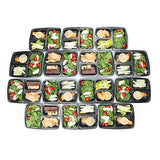 Meal Prep Containers 3 Compartment - 14 Pack Lunch Box Bento Box - Food Storage Portion Control Containers - 21 Day Fix BPA Free, Reusable, Microwave Dishwasher & Freezer Safe