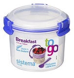 Sistema Klip It Collection Breakfast Bowl To Go Food Storage Container, 17.9-Ounce/ 2.2 Cup