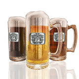 Fine Occasion Monogram Initial Pewter Engraved Crest Beer Mug with Letter  G, 27 oz