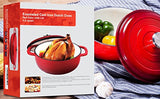 Enameled Cast Iron Dutch Oven - Red Color with Lid, 3.2-quart - by Utopia Kitchen