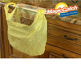Magic Catch, Trash Bag Holder Instant-on Kitchen Clean-up Tool, Zero Mess in Kitchen, Bath, Boat, RV, Laundry Room. Clean Up is a Snap, Grocery Bag Holder