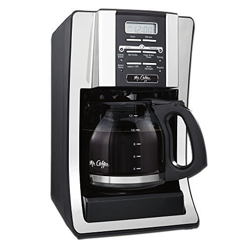 Mr. Coffee BVMC-SJX33GT-AM 12-Cup Programmable Coffee Maker with Thermal Carafe Option, Chrome